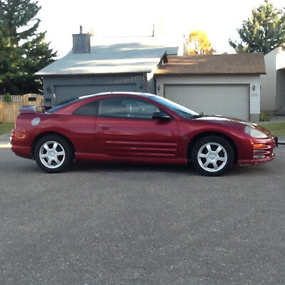 2000 MITSUBISHI ECLIPSE 3-Door GT Coupe, V6 24 Valve Engine, Red 2000 MITSUBISHI ECLIPSE 3-Door GT Coupe, V6 24 Valve Engine, Red