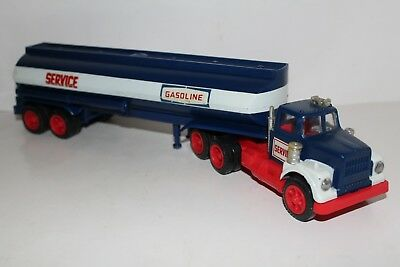 Rare 1972 1974 Marx Service (Hess) Toy Tanker Truck Great Condition Lights Work