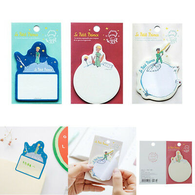 Cartoon Little Prince Sticky Notes Memo Paper Notepad Planner Adhesive Bookmarks