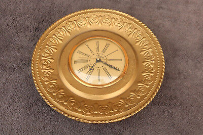 VINTAGE Sessions Wall CLOCK Old Antique RUNS Gold Tone MID-CENTURY WORKS