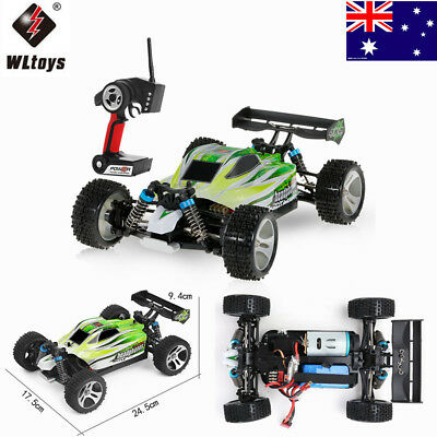 WLtoys A959-B 2.4G 1:18 4WD 70KM/h Electric Off-road Buggy RC Car AU Ship Gift