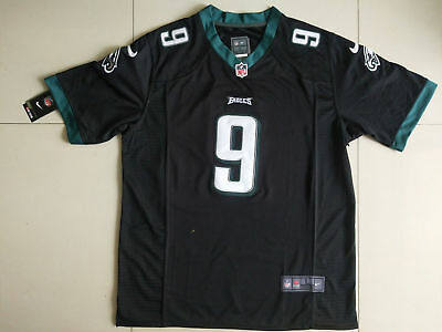 Men's Philadelphia Eagles Nick Foles Black Game Jersey M-XXXL New Free Shipping