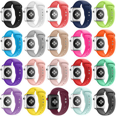 For Apple Watch Series 5/4/3/2 38/42 Replacement Silicone Wrist Sport Band Strap