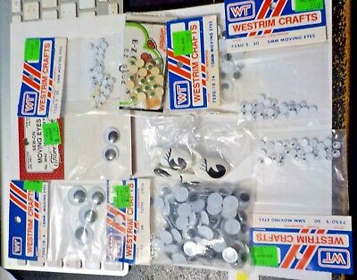 Large Collection Of Googly Eyes - Various Sizes & Styles - New