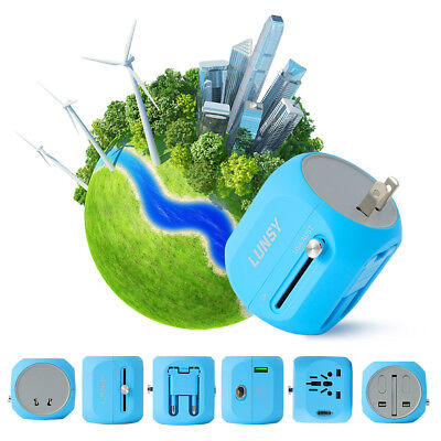 Universal UK EU AU US Travel Adapter International Power Wall Socket Outlet Plug