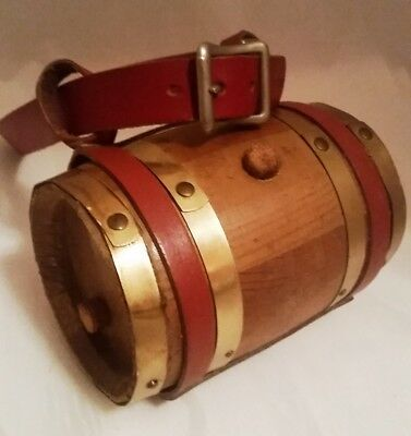 Red Dog Collar St. Bernard Wood Whiskey Barrel Swiss Rescue