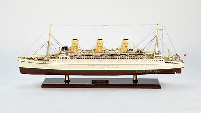 "RMS Empress of Japan Ocean Liner Wooden Ship Model 33"" Scale 1:250"