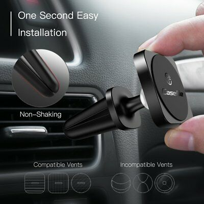 CaseMe 360 Degrees Rotation Air Vent Mounted Magnetic Car Phone Holder AC