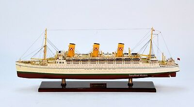 "RMS Empress of Scotland Ocean Liner Wooden Ship Model 33"" Scale 1:250"