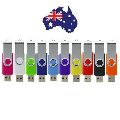 AU Stock - 10PCS USB 2.0 Memory Flash Drive 128MB-16GB Data Storage Stick Pen