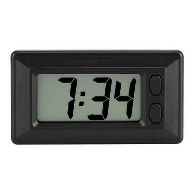 Ultra-thin Time Data LCD Screen Digital Clock Calendar For Car Dashboard H~S *