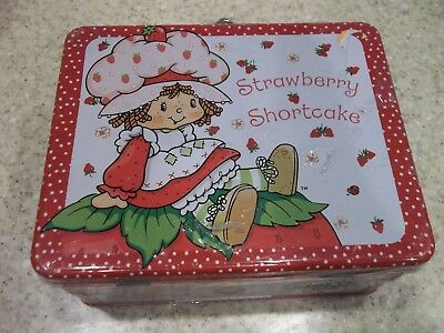 """Strawberry Shortcake Tin Lunch Box Have a """"Berry"""" Nice Day! New in Wrap"""