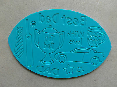 FATHER'S DAY EMBOSSING BOARD - Different Pictures Each Side -Excellent condition