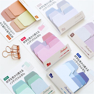60 Sheets Gradient Color Self-Adhesive Index Memo Pad Sticky Notes Tabs Bookmark