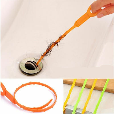 Drain Sink Cleaner Bathroom Unclog Sink Tub Clog Hair Flexible Removal Stab Tool