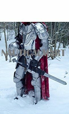 Medieval Larp Knight Wearable Full Suit Of Armor Halloween Costume