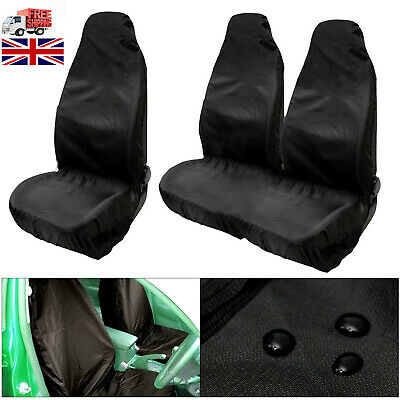 DELUXE GREY/BLACK VAN SEAT COVERS SINGLE VAUXHALL VIVARO 2007 DOUBLE 2-1