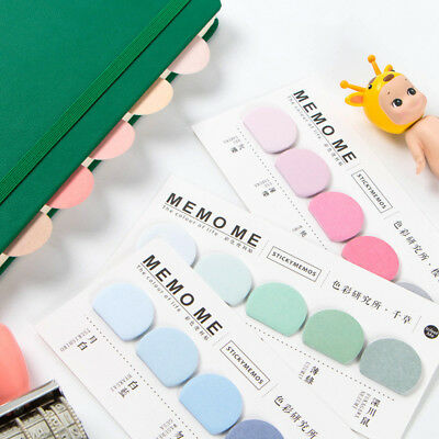 Round Colorful Self-Adhesive N Times Memo Pad Office School Sticky Note Bookmark