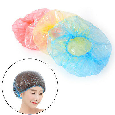 10Pcs Disposable Waterproof Hotel Hair Bathing Shower Cap Caps Hats Travel  RG