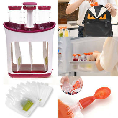 Infant Baby Food Feeding Station Maker Pouches Homemade Fresh Squeeze US