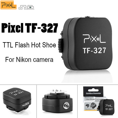 Pixel TF-327 TTL Flash Hot Shoe Convert to PC Sync Adapter For Nikon SB-800 d700