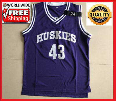 294b50a3f70 Kenny Tyler  43 Huskies Basketball Stitched Throwback Jersey Purple S-2XL