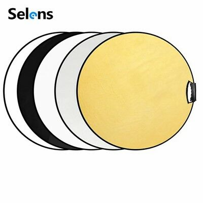 """Selens Photography 5in1 60cm 24"""" Collapsible Reflector Disc Handle Grip with Bag"""