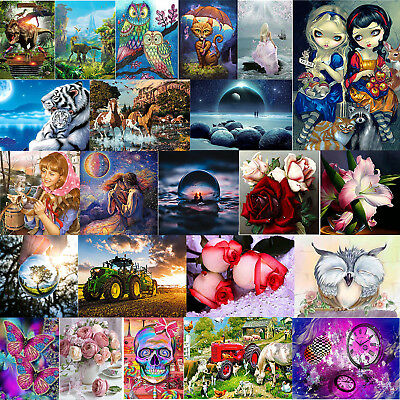 AU Full Drill 5D DIY Diamond Painting Embroidery Cross Stitch Xmas Gift +Tools