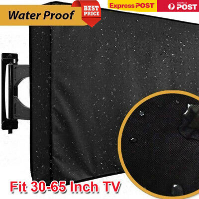 30-65 Inch Waterproof LED TV Cover Outdoor Patio Flat Television Protector AU