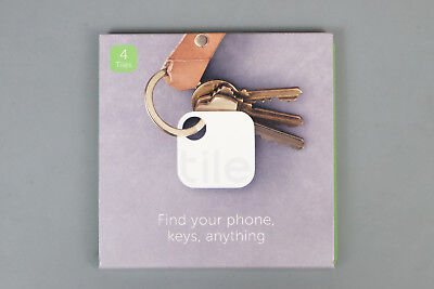 Tile (Gen 2) Phone Finder, Key Finder, Item Finder - 4 Pack T1003