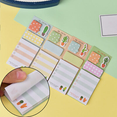 Cactus Kawaii Memo Pad Sticky Notes Cute Office Supply Bookmark Paper Sticker  R