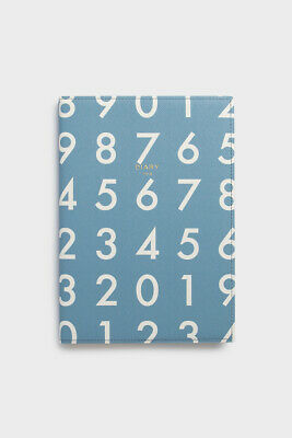 Delfonics - 2019 Quitterie Numbers Diary Notebook - Weekly - A5 (21.8 x 15.5cm)