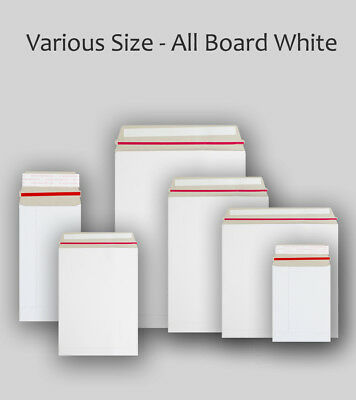 Quality All Board White Calendar Card Document Envelopes All Sizes & Qty