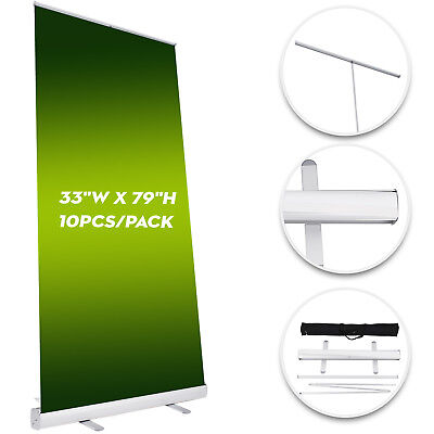 """10pcs Retractable Roll Up Banner Stand (Display), 33""""x79"""" w/ Free Shipping"""