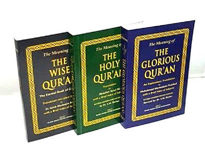 SPECIAL OFFER: Three Translations - The Glorious, The Holy & The Wise Quran (PB)