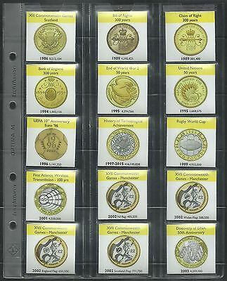 £2 COIN ALBUM DISPLAY PAGES + info cards for ALL Two Pound Coins 1986-2020