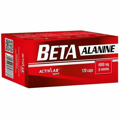 Activlab Beta Alanine 120 Capsules 4000 Mg In 4 Caps Increase Lean Muscle Mass