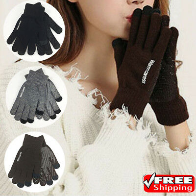 Mens Women Thermal Insulation Touch Screen Winter Warm Gloves For Smartphone