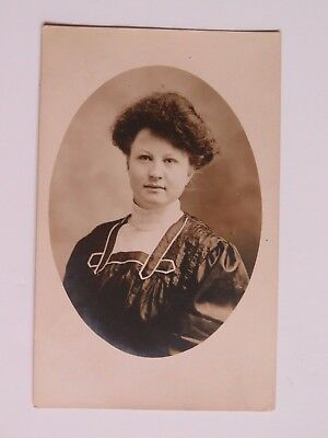 Antique Postcard Real Photo Woman  RPPC Used Vintage #2127