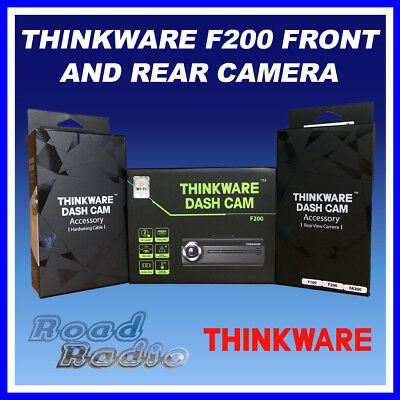 THINKWARE F200 2CH Front and Rear Dash Camera With Hardwire Cable