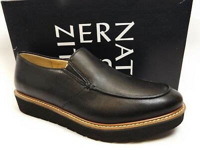 8fa54a861a7 Naturalizer Aibileen Moc Toe Loafer Black LEATHER Women s SZ 9.0 M DISPLAY  D6806