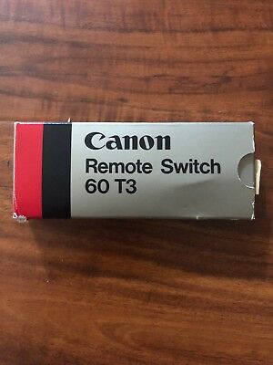 Canon Shutter Release Remote Switch 60 T3 -EOS 1/1N/RS/A2/A2E/T90- NOS