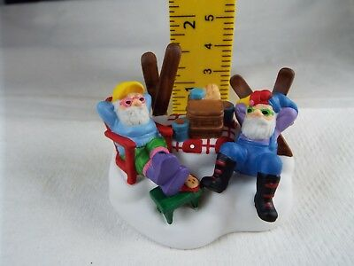 Department 56 Heritage Village Collection Ski Bums Sleeping Elves Nib