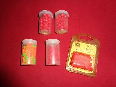 Job Lot of Old Tulip Beads & Beads for Devon Minnow Mounts.