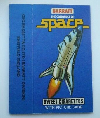Barratt The Conquest Of Space , Sweet Cigarette Packet 1980 Excellent Condition