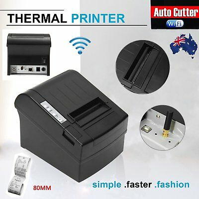 Wireless WIFI POS Thermal Receipt Printer 80mm Auto Cutter 300mm/s POS-8220 LAC