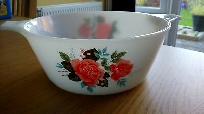 Pyrex Pink Country Rose Casserole Dish