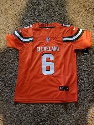 half off 3a3aa b2411 BAKER MAYFIELD CLEVELAND Browns Youth Large Jersey Orange