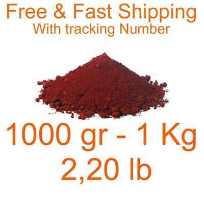 iron oxide red pigment dye 1000 gr 1 Kg 2,20 lb free & Fast shipping Fe2O3 dyes
