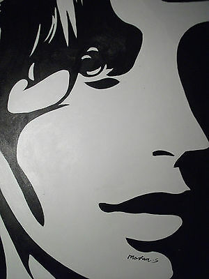 black white abstract face large oil painting canvas pop art contemporary modern